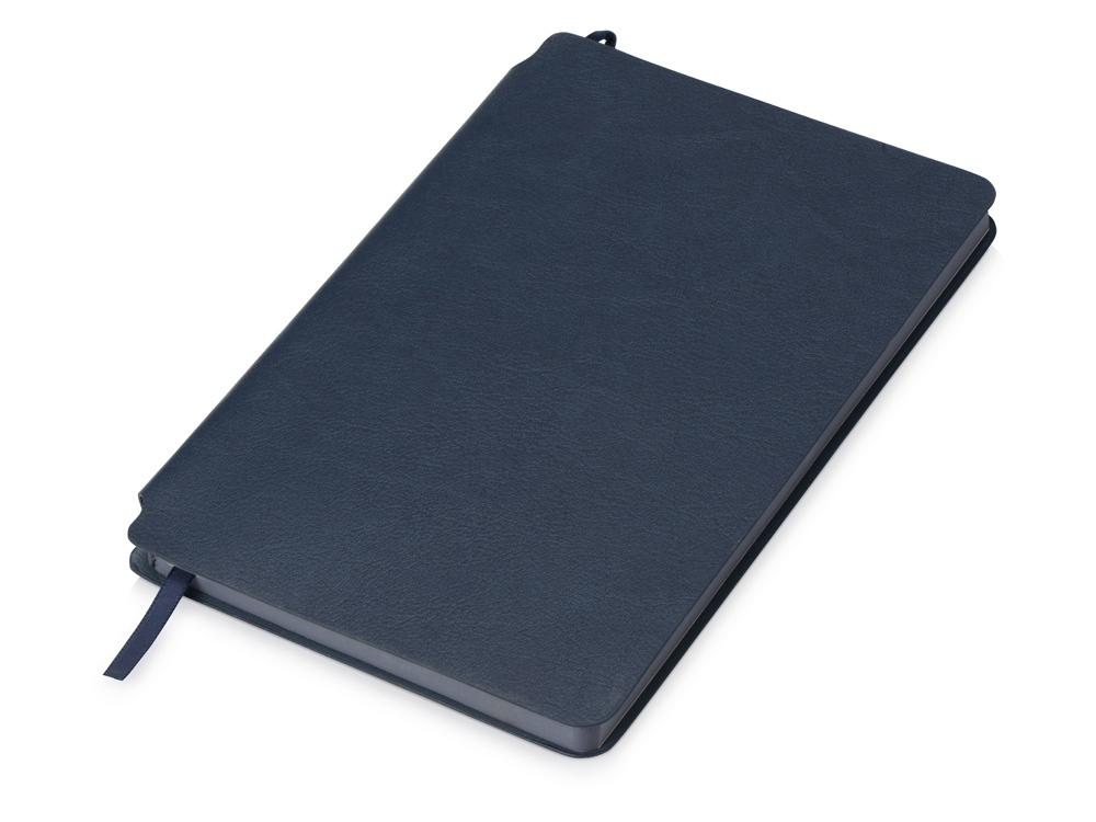 Блокнот Notepeno 130x205 мм с тонированными линованными страницами, темно-синий