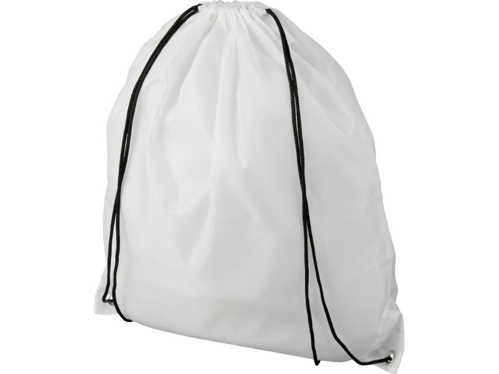 Рюкзак со шнурком Oriole из переработанного ПЭТ, белый