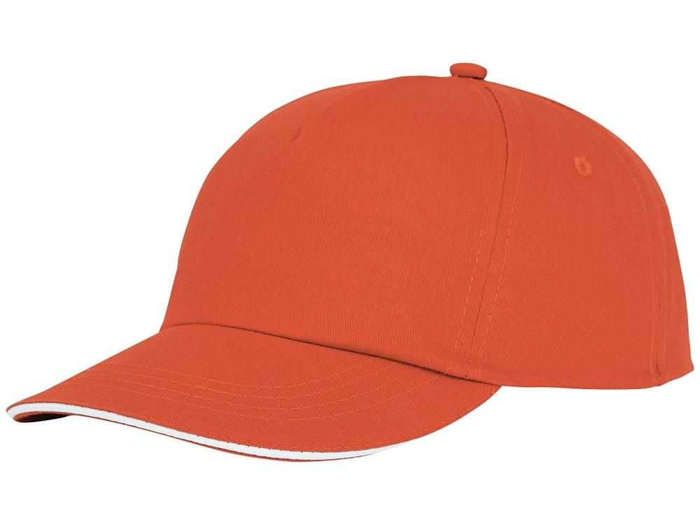 Пятипанельная кепка-сендвич Styx, оранжевый