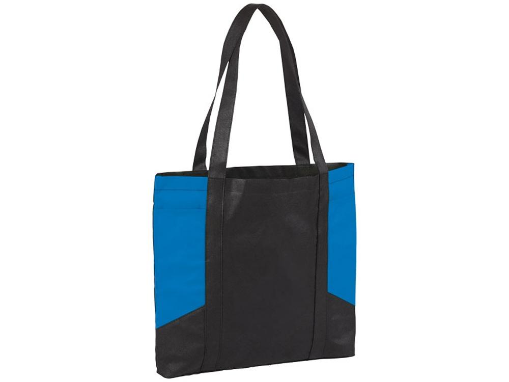 Сумка с цветными панелями, черный/насыщенный синий