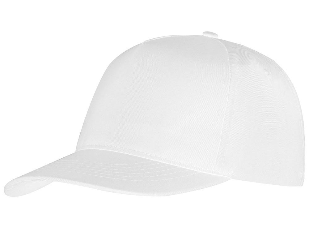 Бейсболка Poly 5-ти панельная, белый