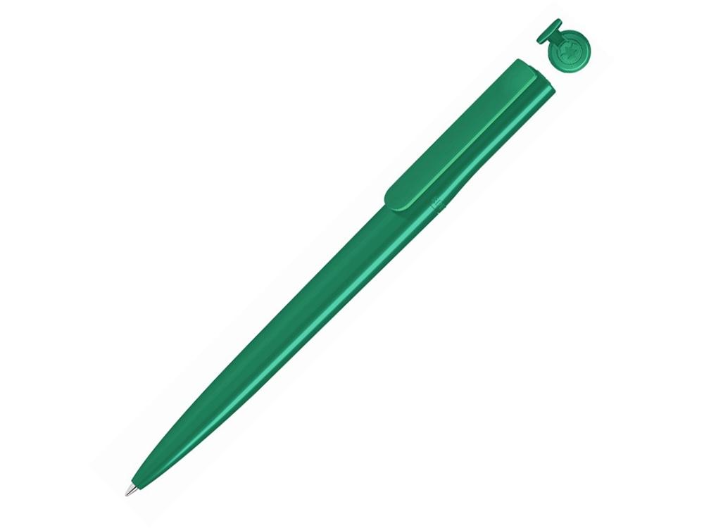 Ручка шариковая пластиковая RECYCLED PET PEN switch, синий, 1 мм, зеленый