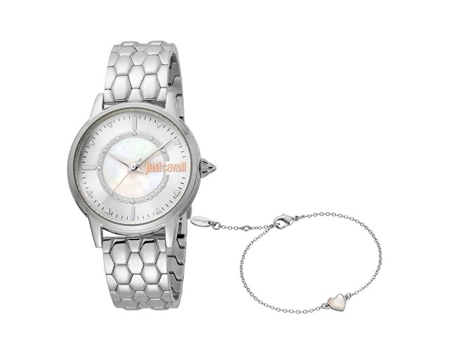 Подарочный набор: часы наручные женские, браслет (арт. 60020)
