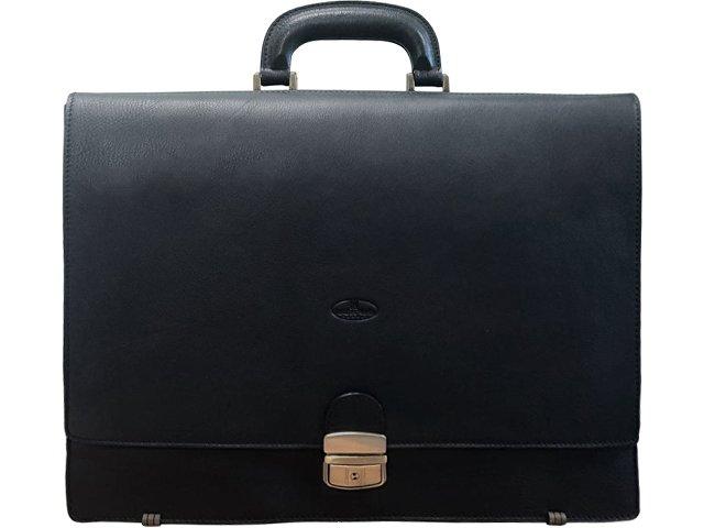 Портфель кожаный LeatherNorth, черный (арт. 570028)