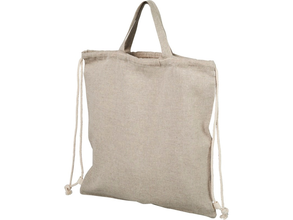 Рюкзак со шнурком Pheebs из 150г/м² переработанного хлопка, натуральный