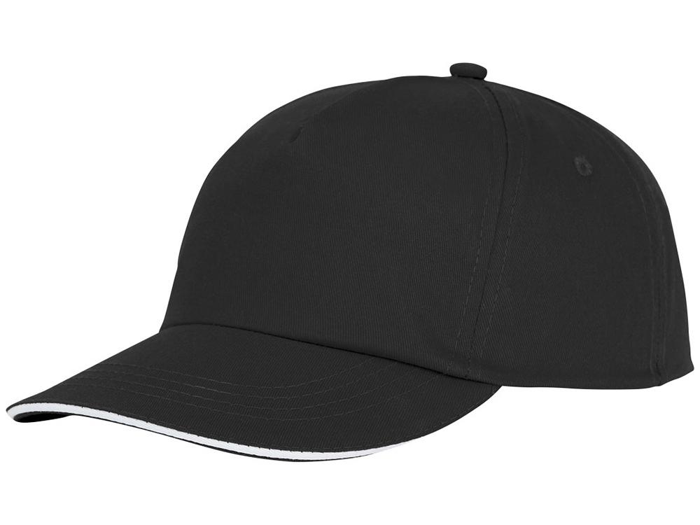 Пятипанельная кепка-сендвич Styx, черный