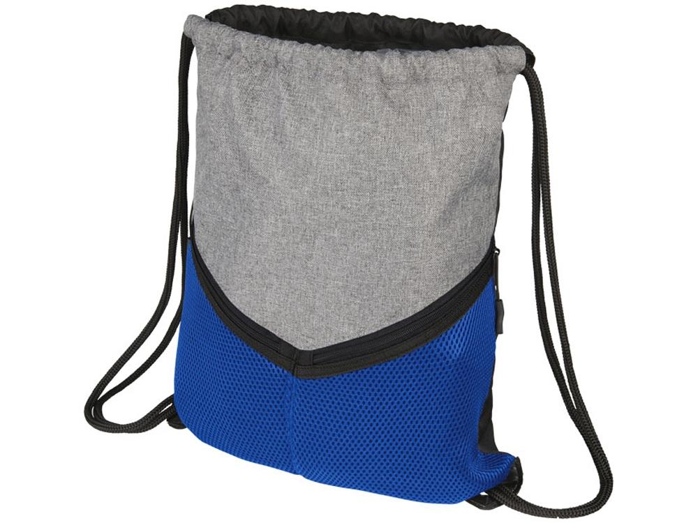 Спортивный рюкзак-мешок, серый/синий