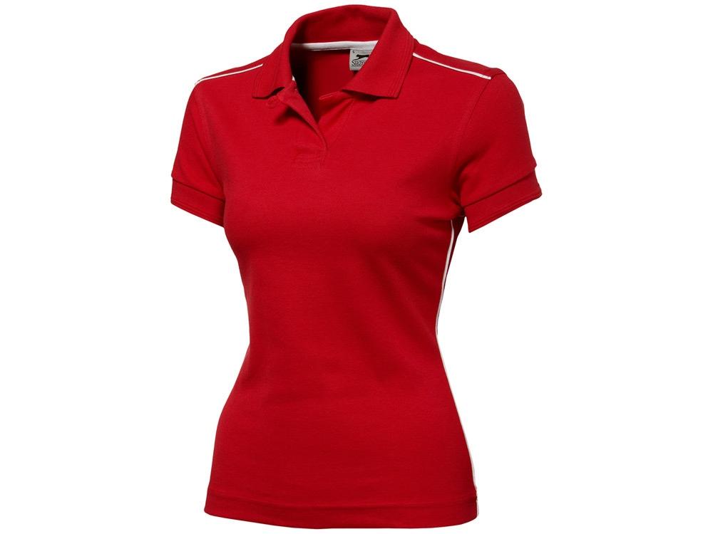Рубашка поло Backhand женская, красный/белый