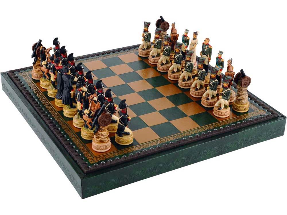 Шахматы Бородино, зеленый