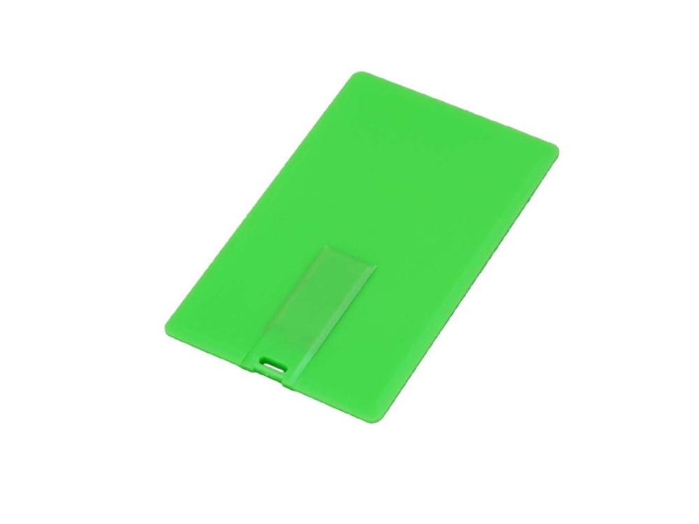 Флешка в виде пластиковой карты, 64 Гб, зеленый