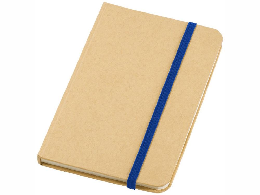 Блокнот А6 Dictum, бежевый/ярко-синий