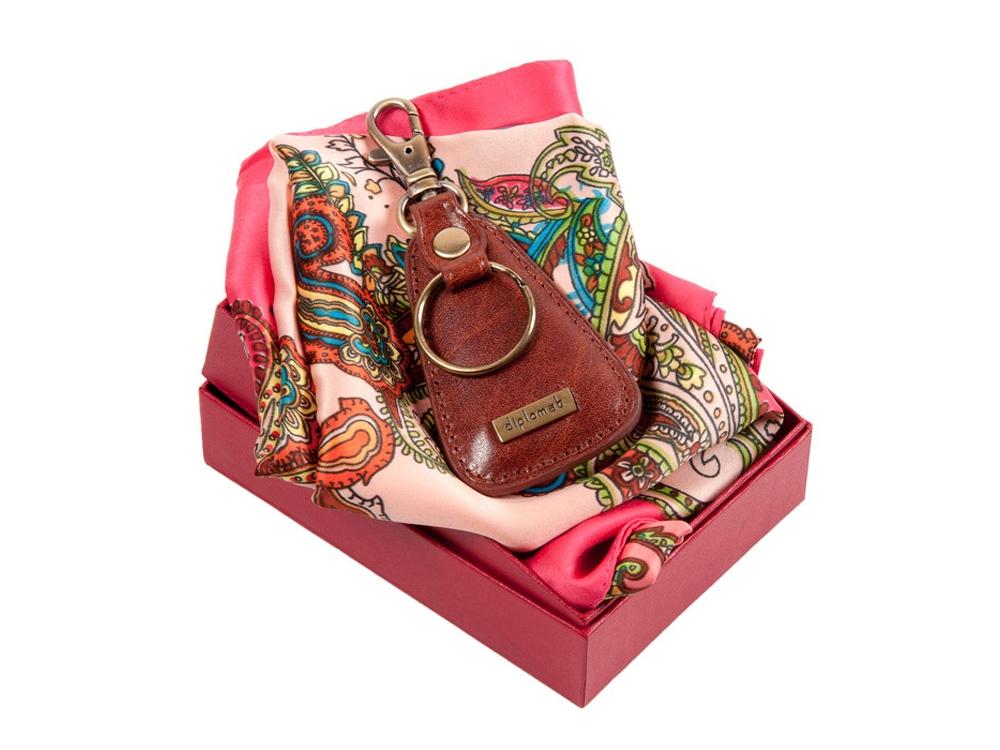 Подарочный набор: ключница и стильный платок