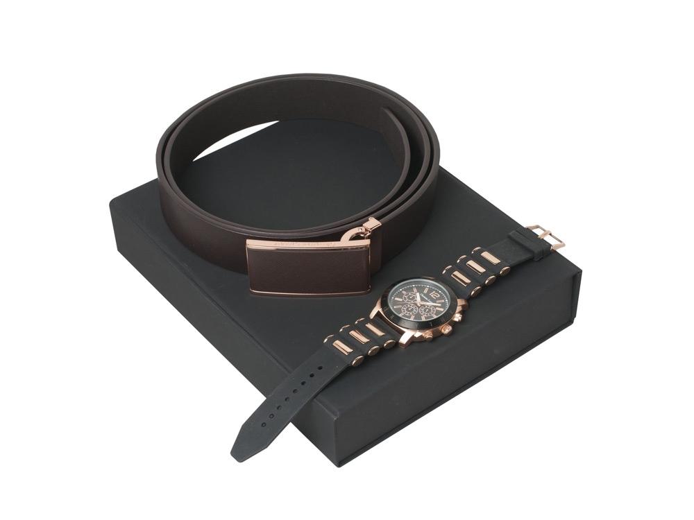 Подарочный набор Seal: ремень, хронограф. Christian Lacroix
