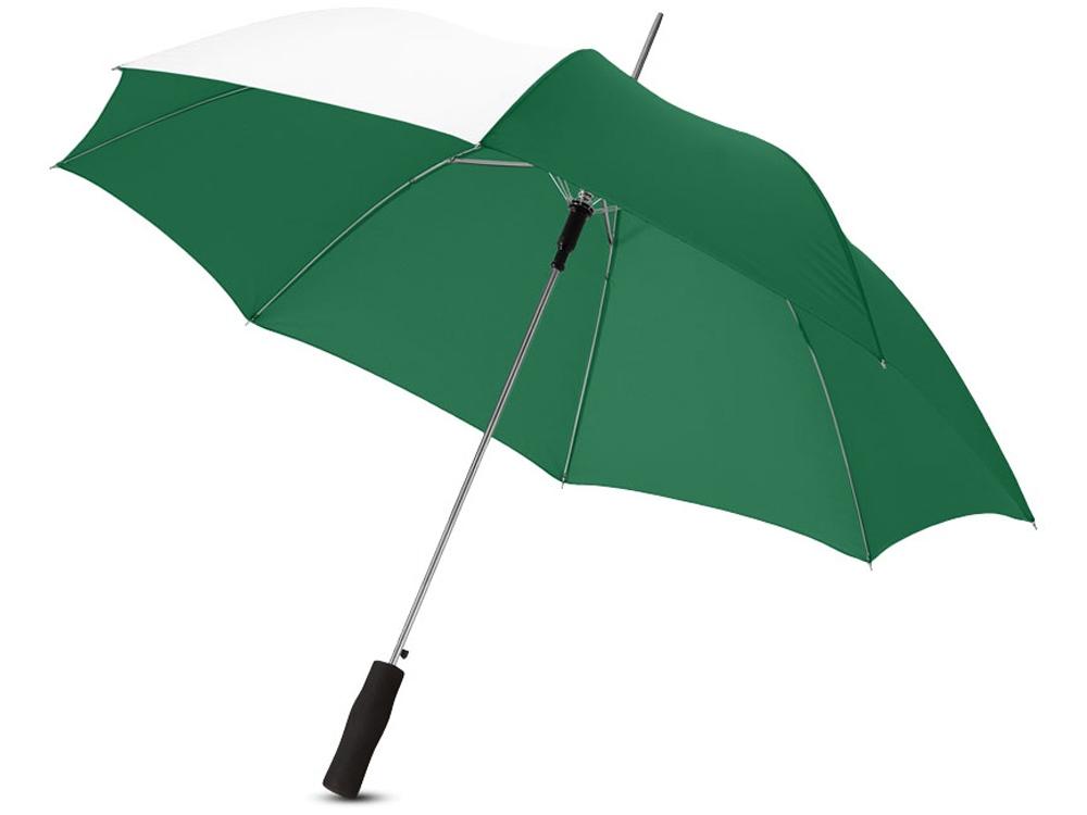 Зонт-трость Tonya 23 полуавтомат, зеленый/белый