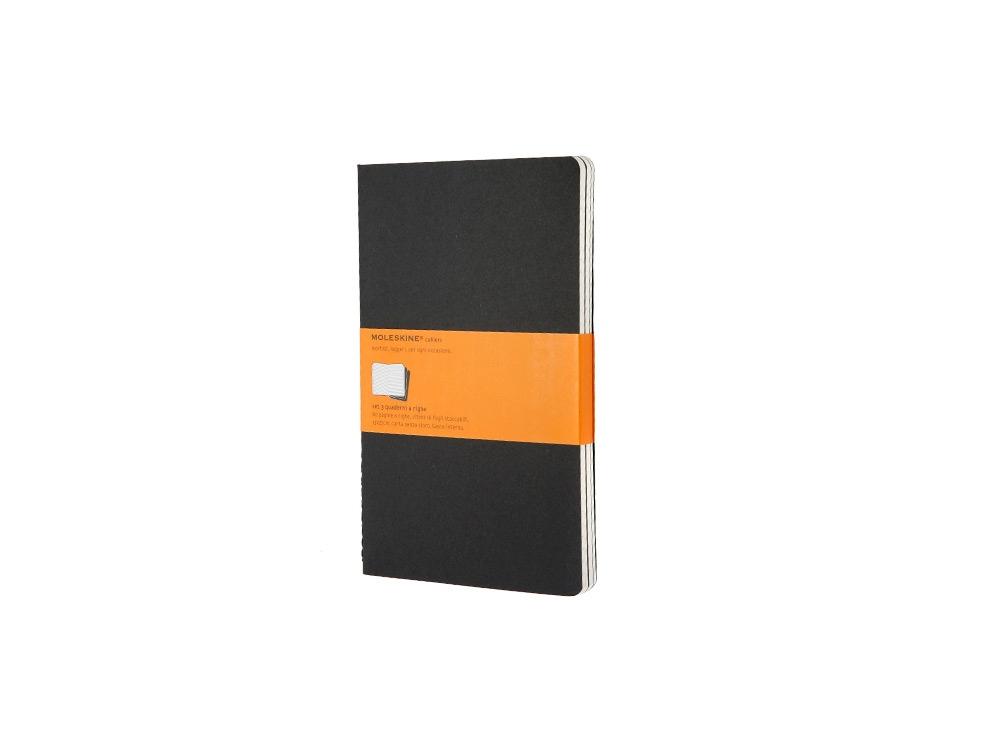 Записная книжка Moleskine Cahier (в линейку, 3 шт.), Large (13х21см), черный