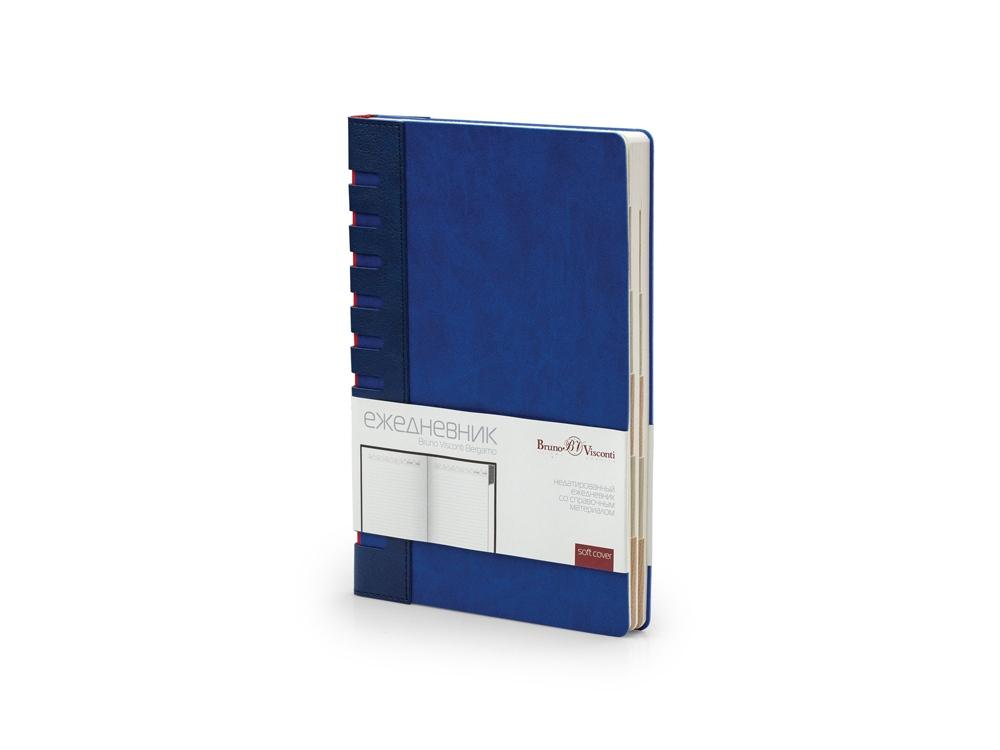 Ежедневник недатированный с индексами А5 Bergamo, синий