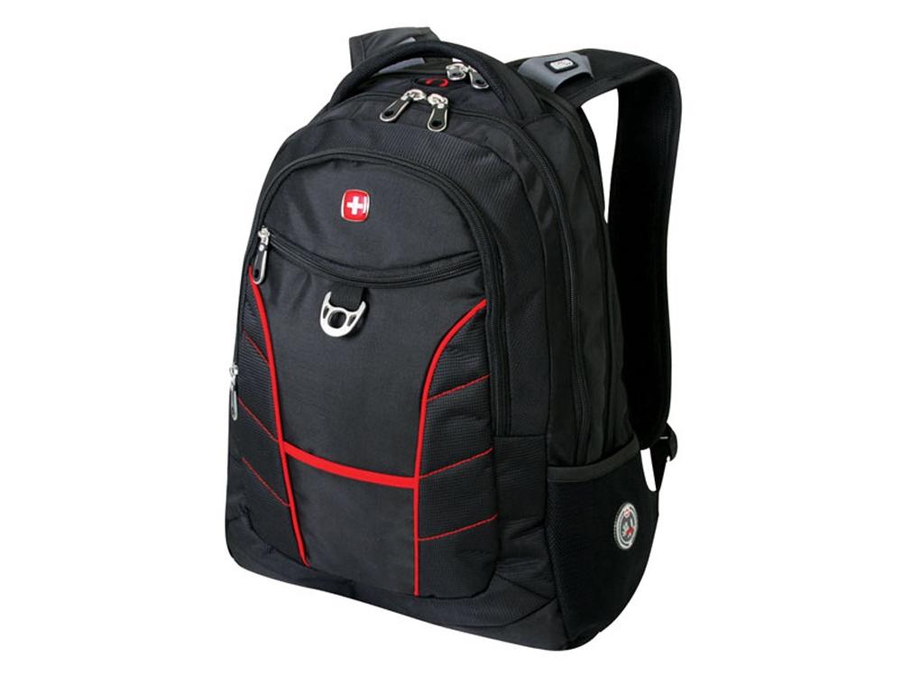 Рюкзак 33л с отделением для ноутбука 15''. Wenger, черный/красный