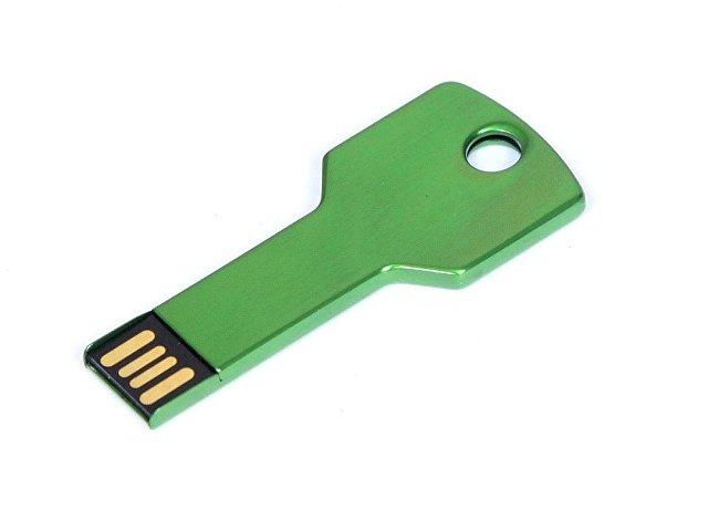 Флешка в виде ключа, 64 Гб, зеленый