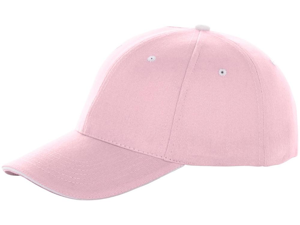 Бейсболка Brent, сэндвич, 6 панелей, розовый