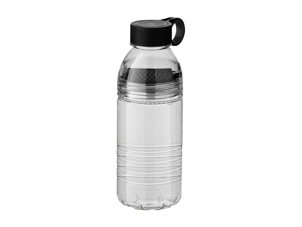 Бутылка спортивная Slice на 600 мл, черный/серый