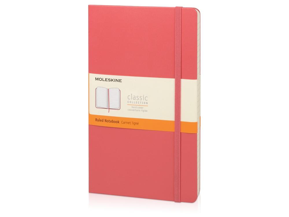 Записная книжка Moleskine Classic (в линейку) в твердой обложке, Large (13х21см), розовый