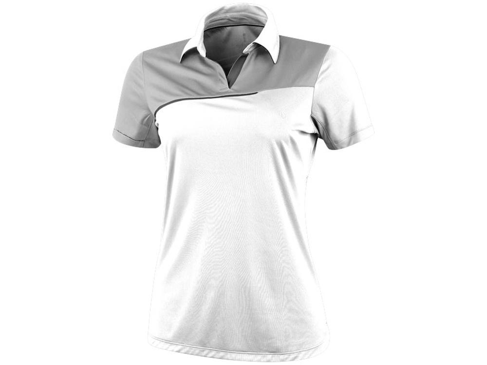 Рубашка поло Prater женская, белый/светло-серый