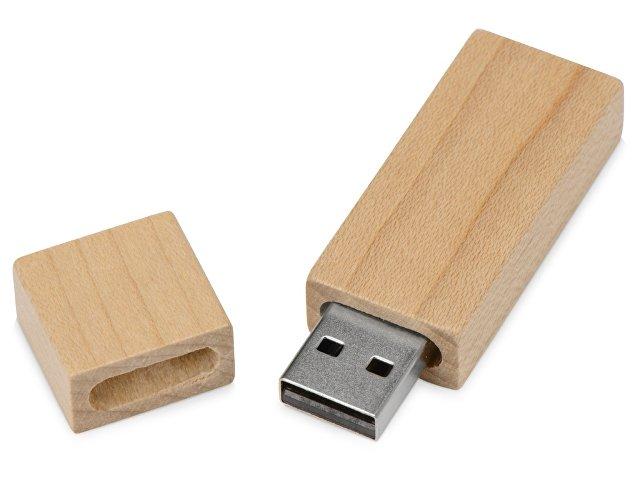 Флеш-карта USB 2.0 16 Gb «Woody» с магнитным колпачком, натуральный
