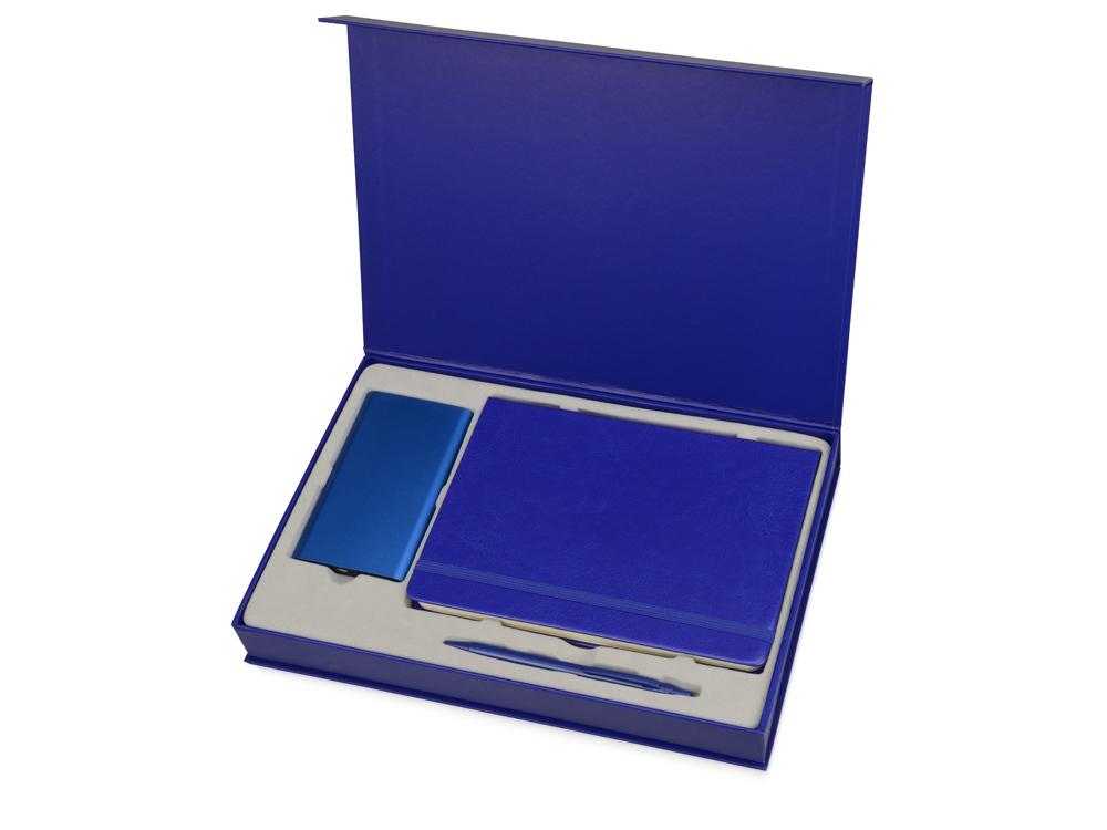 Набор для записей с пауэрбэнком Бласт, синий
