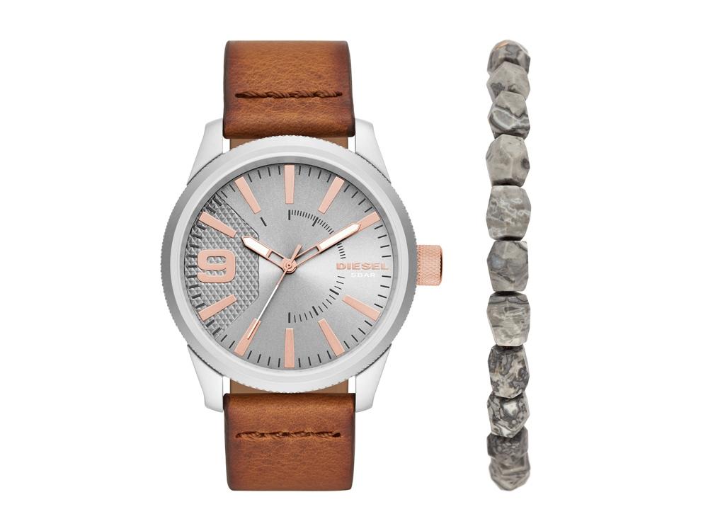 Подарочный набор: часы наручные мужские, браслет. Diesel