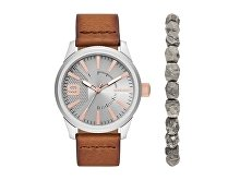 Подарочный набор: часы наручные мужские, браслет (арт. 29459)