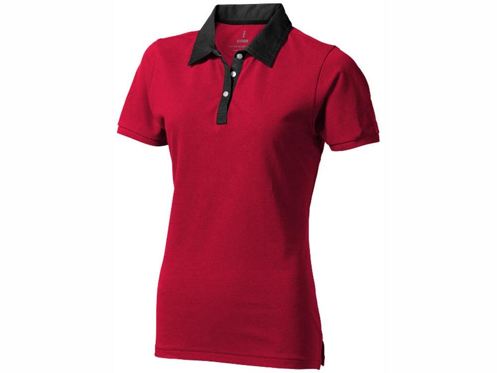 Рубашка поло York женская, красный/антрацит
