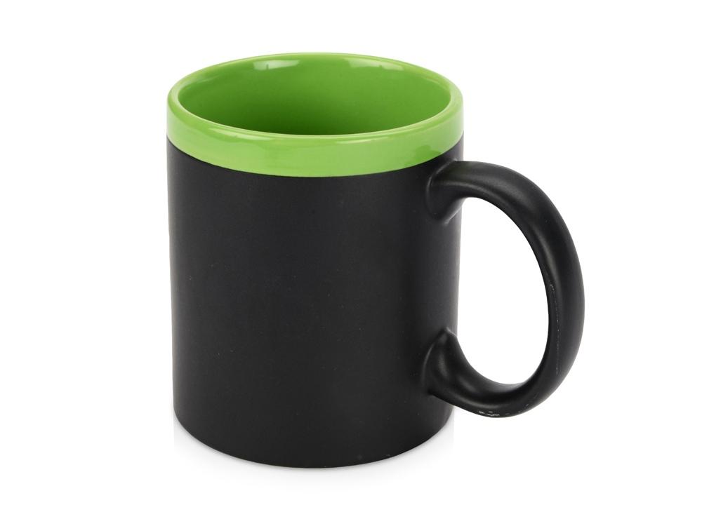 Кружка с покрытием для рисования мелом Да Винчи, черный/зеленый