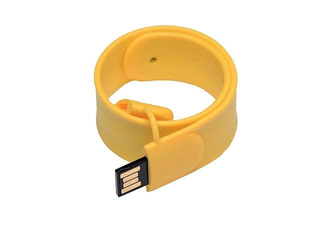 Флешка в виде браслета, 64 Гб, желтый