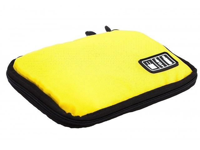Органайзер для зарядных устройств, USB-флешек и других аксессуаров, желтый