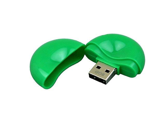 Флешка промо круглой формы, 64 Гб, зеленый