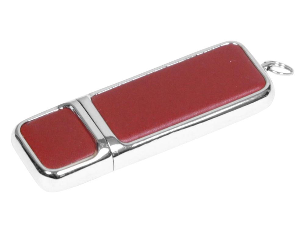 Флешка компактной формы, 64 Гб, коричневый/серебристый