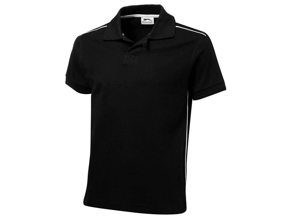 Рубашка-поло Backhand мужская, черный-белый