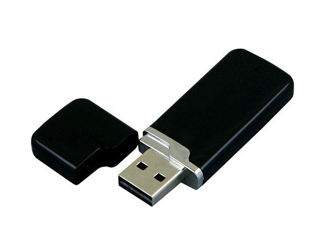Флешка промо прямоугольной формы c оригинальным колпачком, 32 Гб, черный