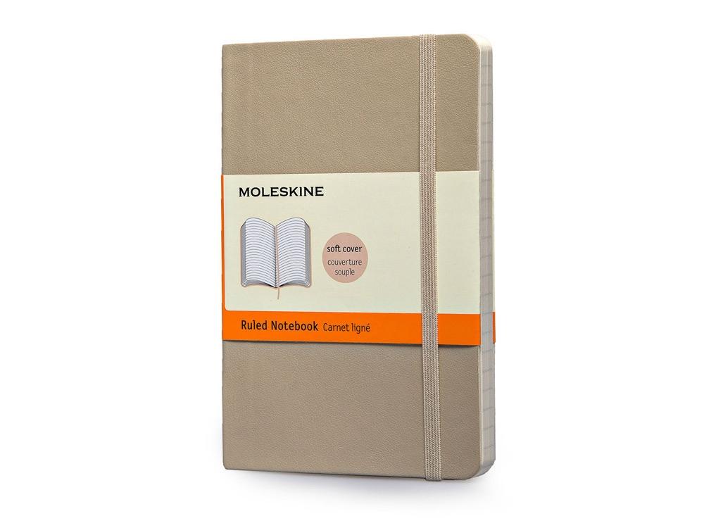 Записная книжка Moleskine Classic Soft (в линейку), Pocket (9х14 см), бежевый