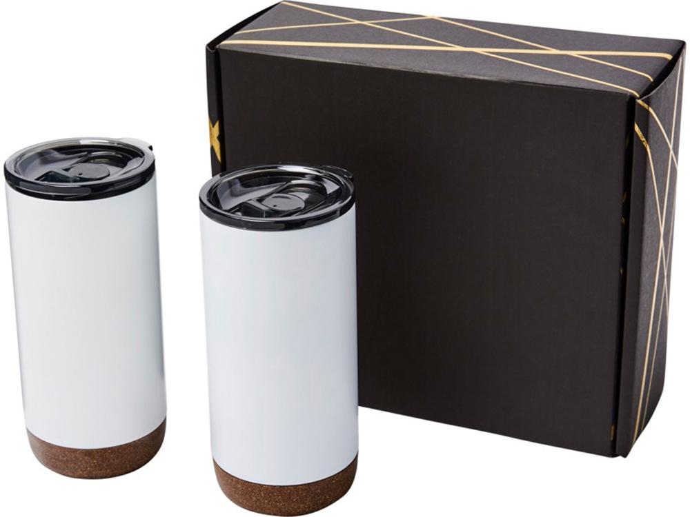 Подарочный набор медных термокружок с вакуумной изоляцией Valhalla, белый