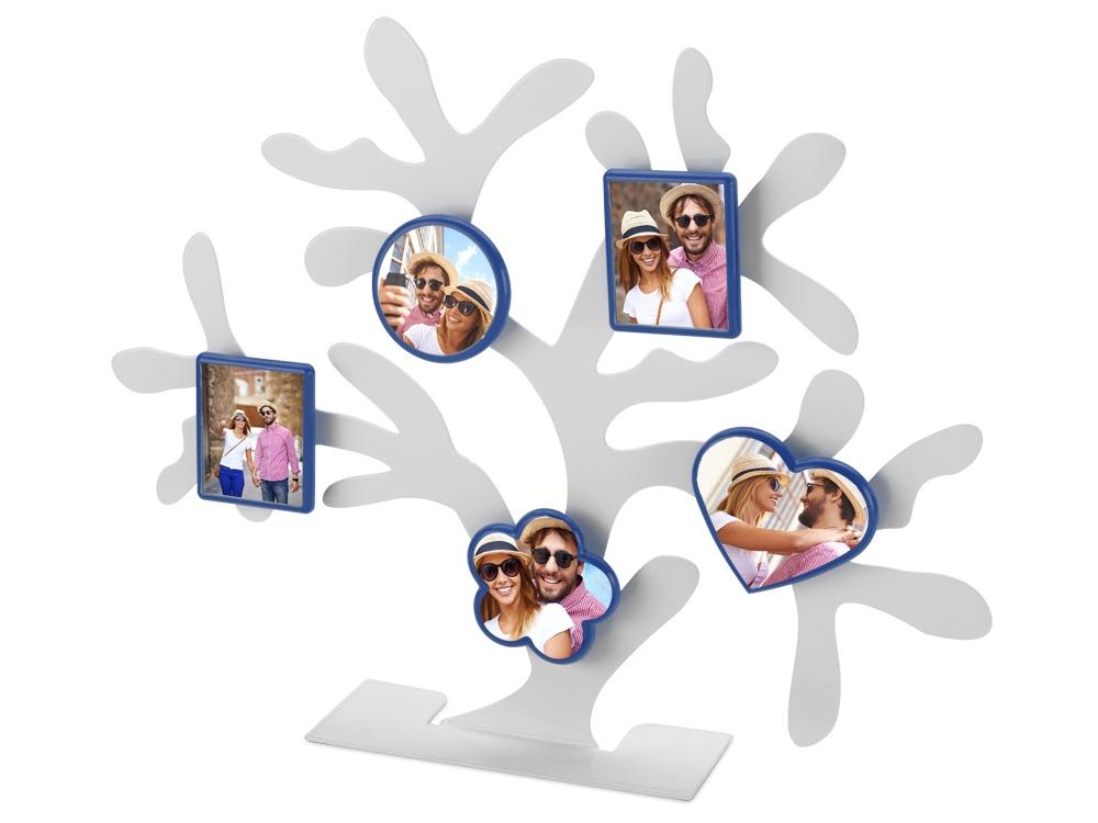 Набор: 5 фоторамок на магнитах на подставке в виде дерева