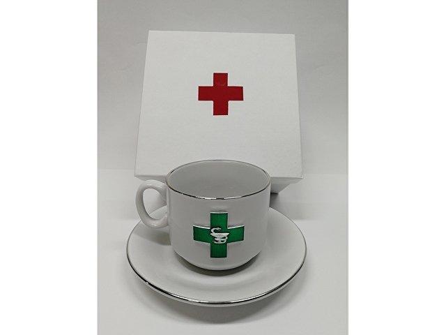 Чайная пара фарфоровая «Фармацевт» (арт. 6186)