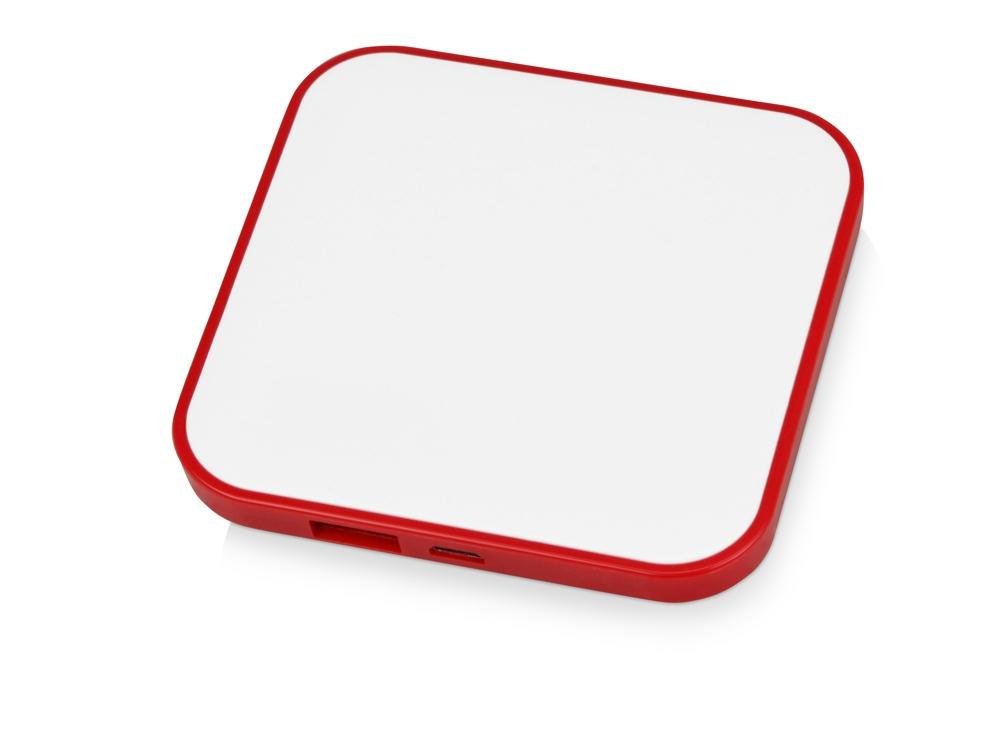 Портативное зарядное устройство (power bank) Квадрум, 2600 mAh, красный