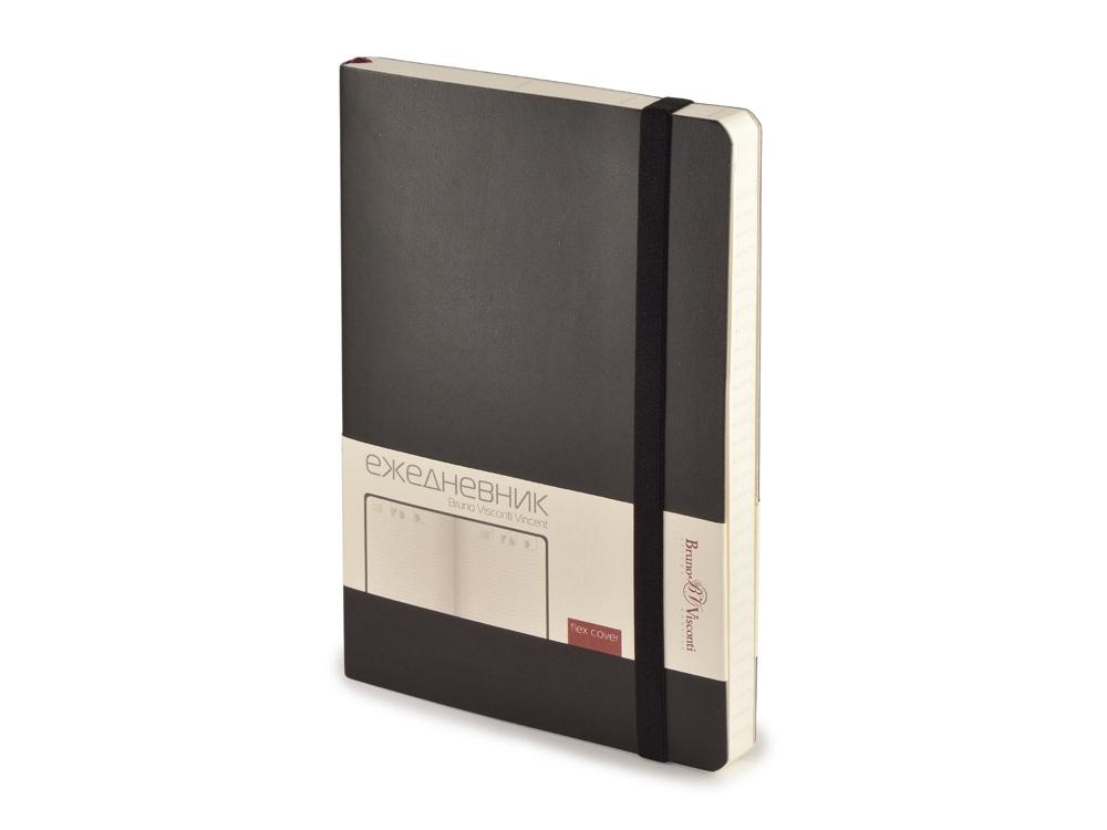 Ежедневник недатированный А5 Vincent, черный
