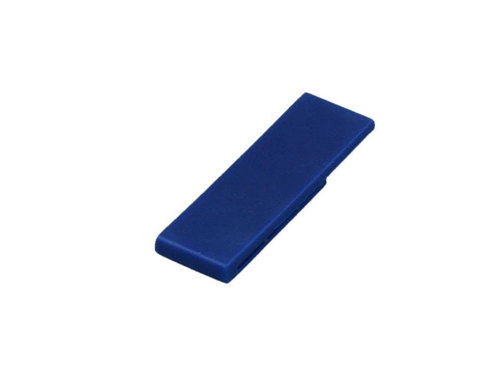 Флешка промо в виде скрепки, 16 Гб, синий