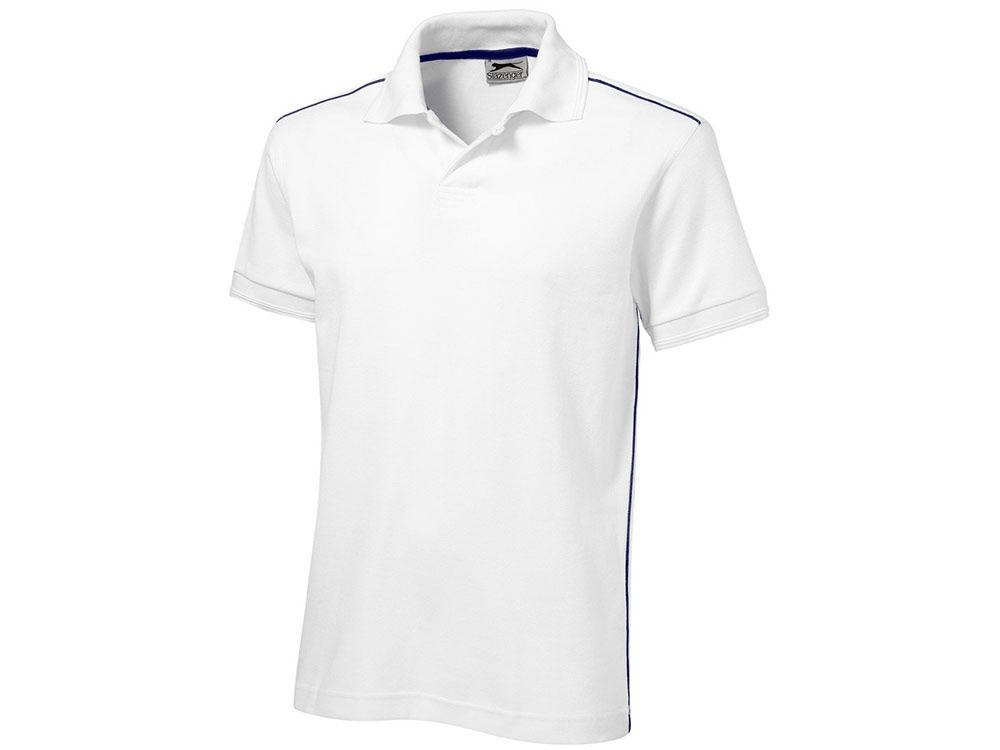 Рубашка поло Backhand мужская, белый/темно-синий