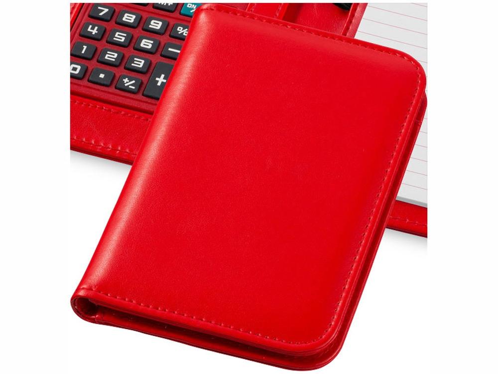 Блокнот А6 Smarti с калькулятором, красный