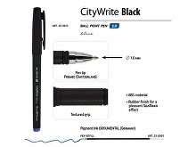 Ручка пластиковая шариковая «CityWrite Black» (арт. 20-0015), фото 3