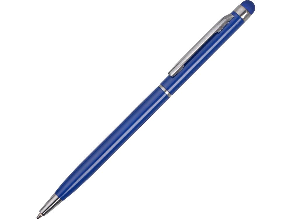 Ручка-стилус металлическай шариковая Jucy, синий