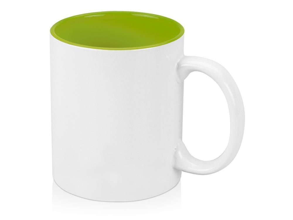 Кружка Gain 320мл, белый/зеленое яблоко
